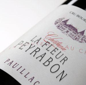 Etiquette vin Château La Fleur Peyrabon