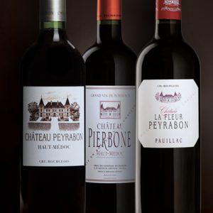 Les 3 vins de la propriété Peyrabon